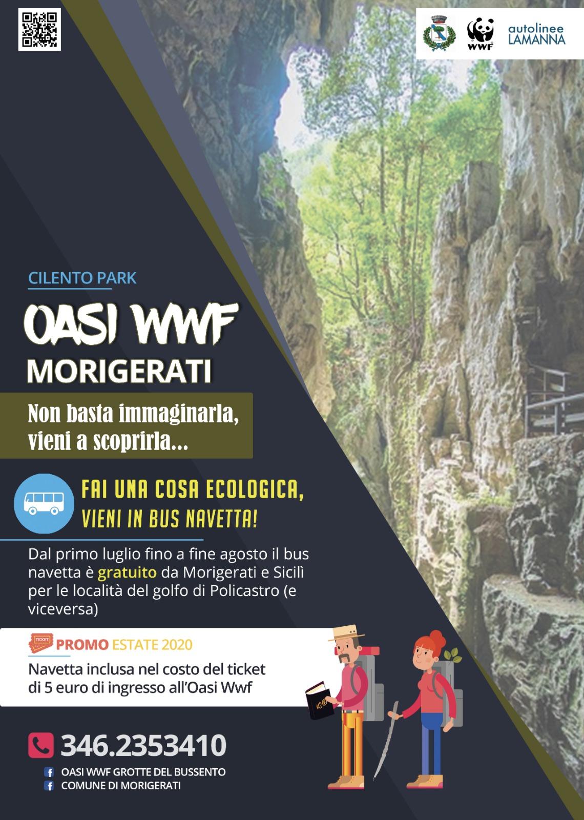 Morigerati, bus navetta gratuita per i turisti, Grotte del Bussento piu vicine