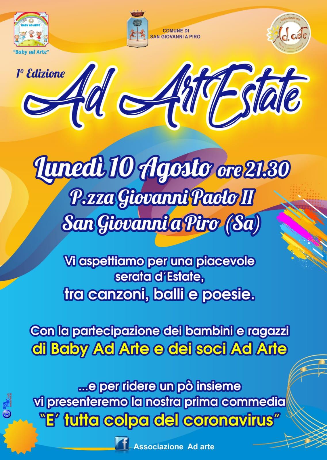 L'associazione Ad Arte si racconta e presenta il programma per l'estate 2020