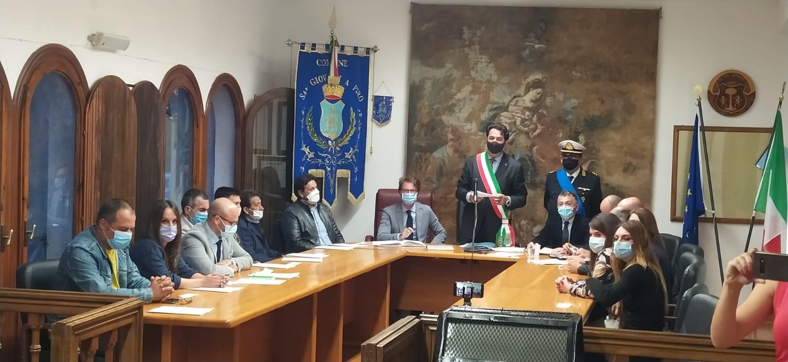 Insediamento del consiglio comunale a San Giovanni a Piro
