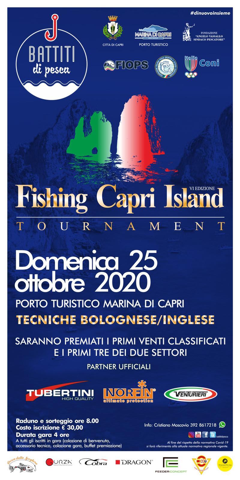Al via la sesta edizione del Fishing Capri Island Tournament organizzato dall'associazione Battiti di Pesca
