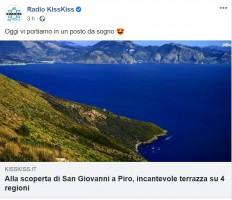Radio Kiss Kiss alla scoperta di San Giovanni a Piro, ''incantevole terrazza su 4 regioni''